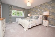 Bedroom in Allanwater show house