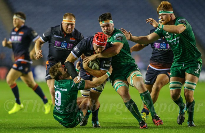 Grant Gilchrist playing for Edinburgh against Connacht