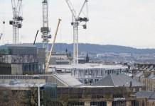 Cranes at Edinburgh St James