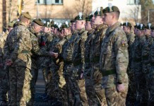 HRH The Duke of York KG congratulating personnel