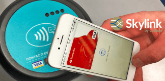 Smartphone with contactless payment point