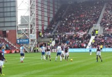 Action from Hearts v Kilmarnock at Tynecastle on Saturday 4th May 2019