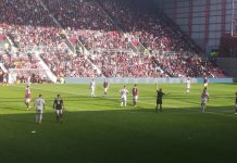 Action from Tynecastle Park, Saturday 31st August 2019