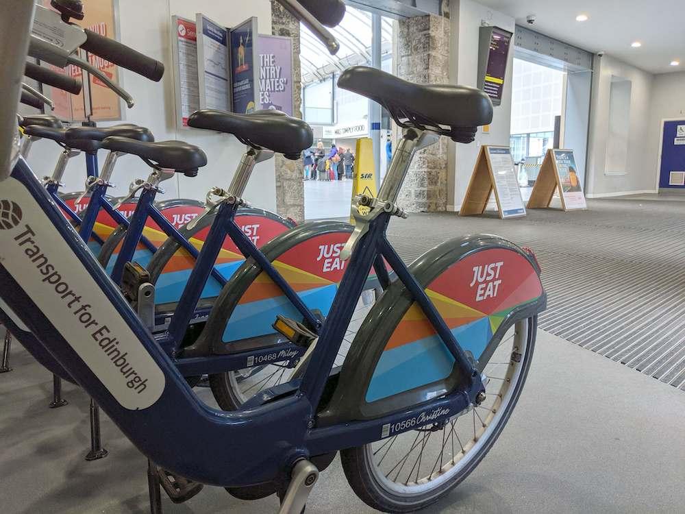 Get On A Just Eat Bike At Haymarket The Edinburgh Reporter