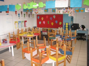 My wife's kindergarten classroom.