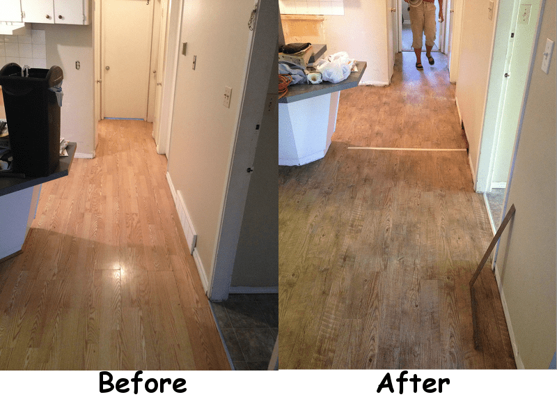 Superb Before And After Shots Of New Flooring In Rental Property