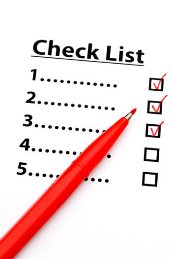Processes, systems and checklists for landlords