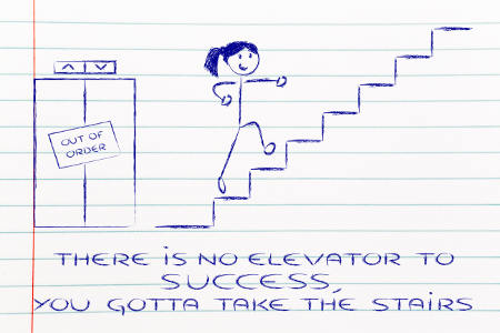 the staircase to success