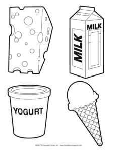 Dairy Food Group Page Coloring Pages