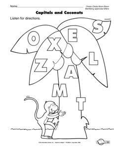 Preschool Following Direction Coloring Activity Coloring Pages