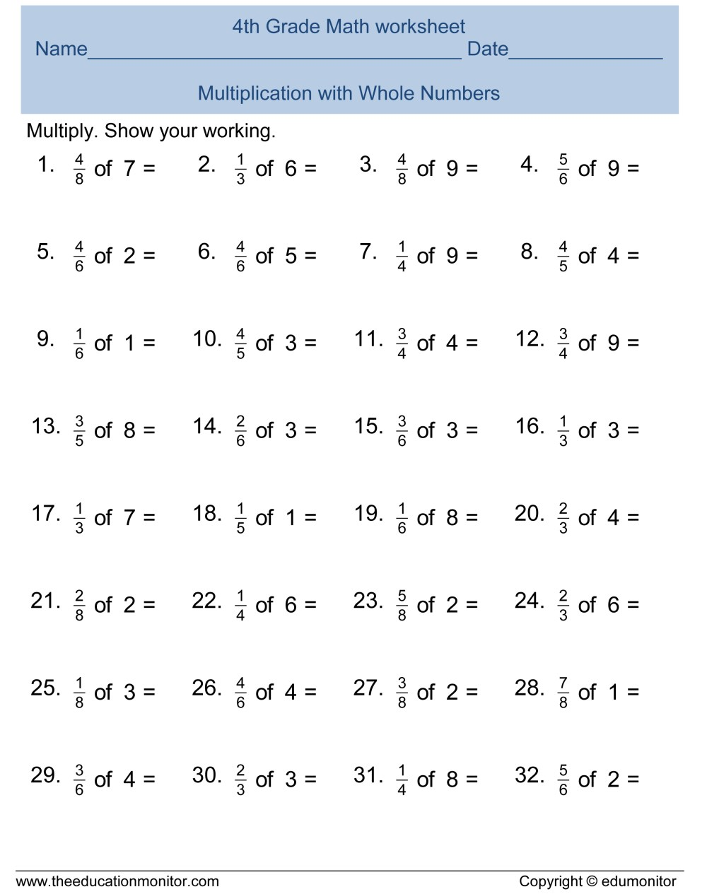 medium resolution of Fractions Worksheets Grade 2   Printable Worksheets and Activities for  Teachers