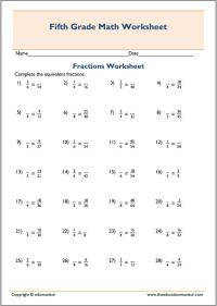 Search Results for Fourth Grade Equivalent Fractions