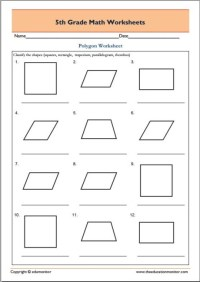 2nd Grade Math Worksheets Polygons - geometry angles and ...