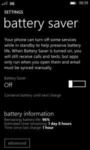 Lumia 925 Screenshot Battery
