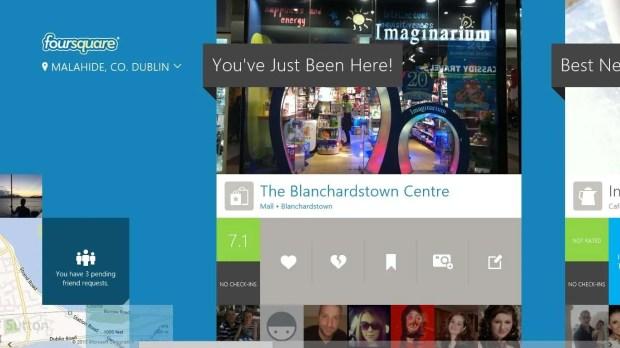Foursquare Windows 8 Home