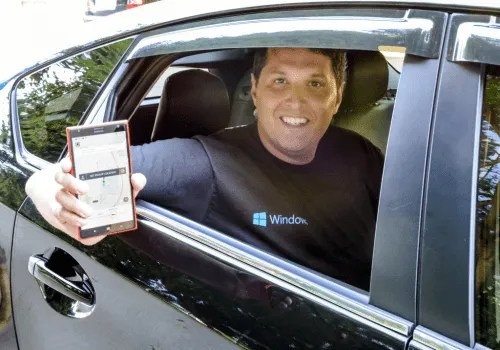 Terry Myerson, executive vice president of Operating Systems for Microsoft, kicked off the release of the Uber app as our rider zero on his way to the Microsoft Global Exchange conference in Atlanta.