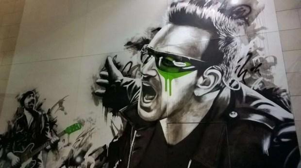 Bono & The Edge artwork taken on a Nokia Lumia 930.