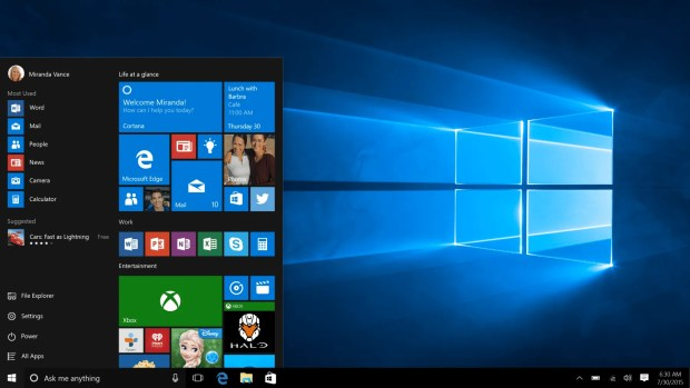The new Windows 10 Desktop and Start Menu