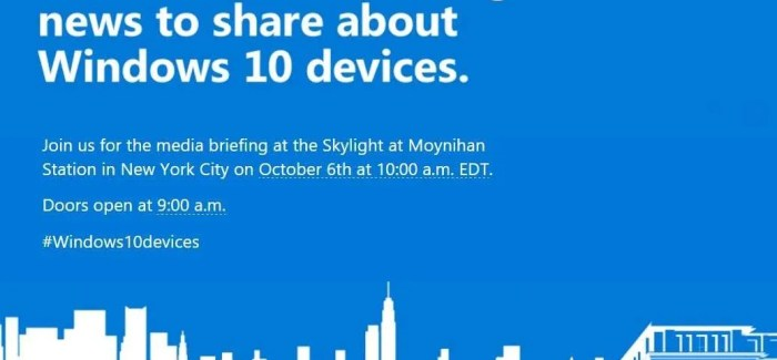 Microsoft to announce new Windows Phones and new Surface at October 6th event