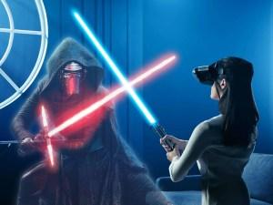 Star Wars Jedi Challenges Lightsaber battle