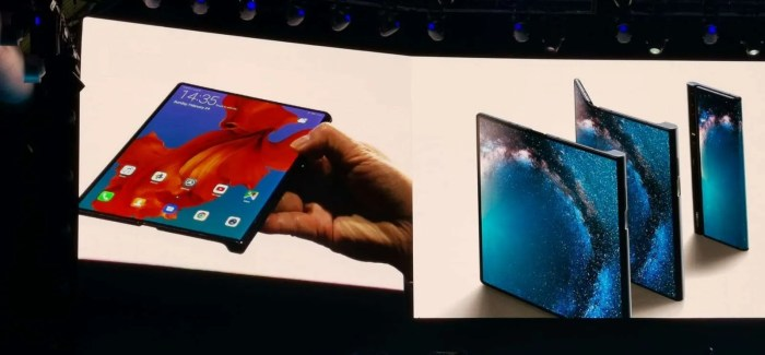 Huawei Unveil the €2299 Huawei Mate X: The World's Fastest Foldable 5G Phone