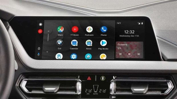 BMW android auto dash