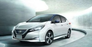 Nissan LEAF 62kWh White and Blue Two Tone