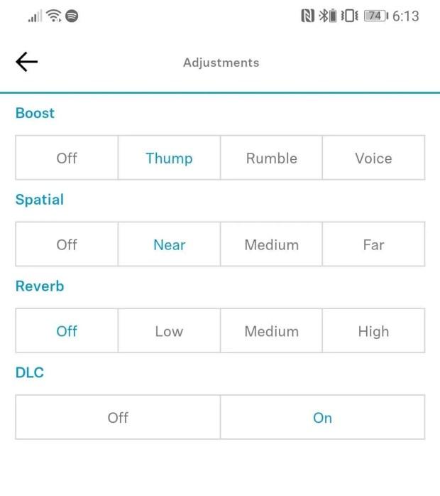 Sennheiser PXC 550-II App - Equaliser Settings