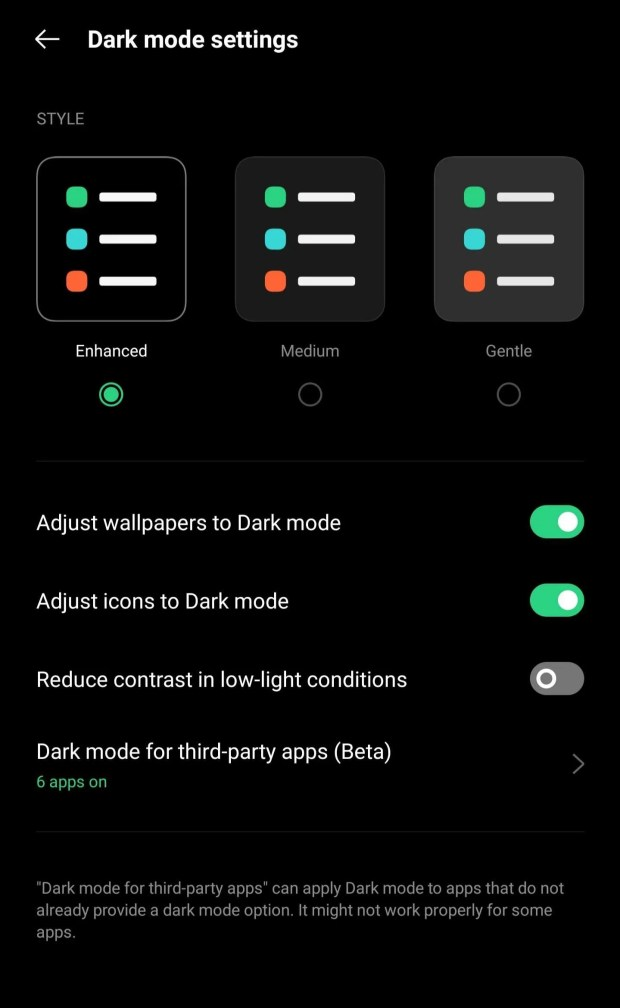 OPPO Find X3 Pro Dark Mode