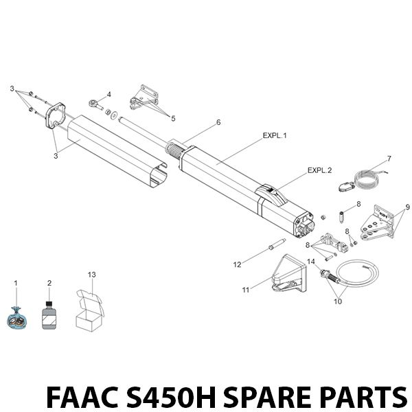FAAC S450H CBAC Spare Parts