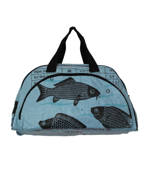 Recycled Fish Feed Zip Travel Bag 18