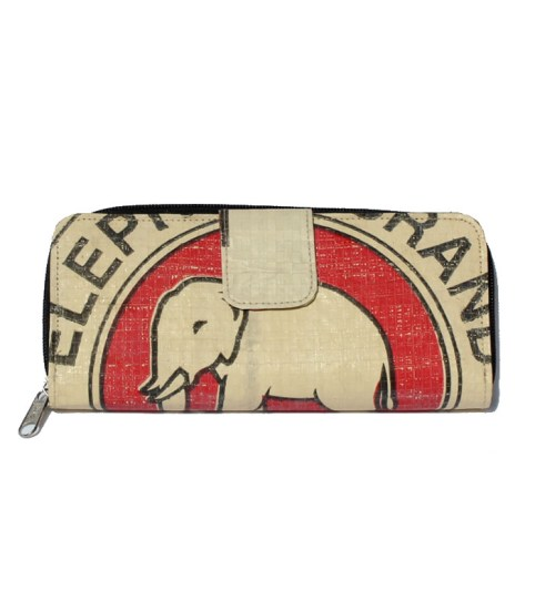 Elephant Brand Ladies Long Fold out Wallet 4