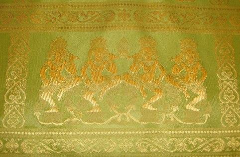 Apsara Dancer Bold Citrus Lime Detail