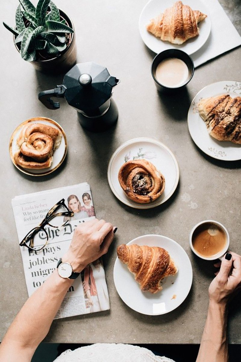 Fall Coffee Wallpaper Croissant Reading 22