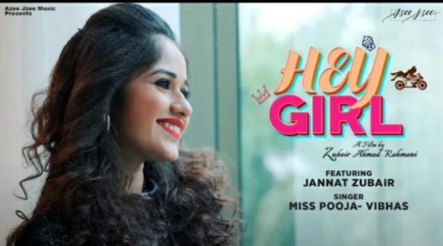 Hey Girl Lyrics in Hindi – Jannat Zubair
