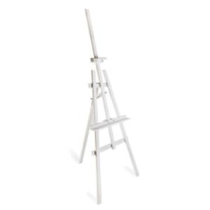 white wooden easel