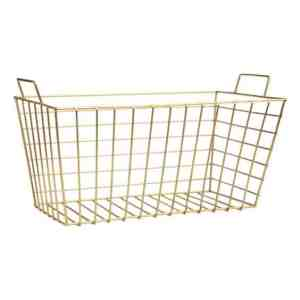 gold wire card basket