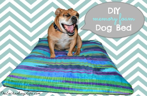 Quick And Easy Diy Dog Bed Made With Memory Foam