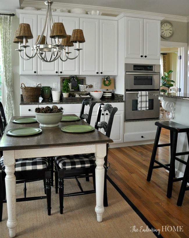 farmhouse kitchen tables commercial exhaust hood style table makeover