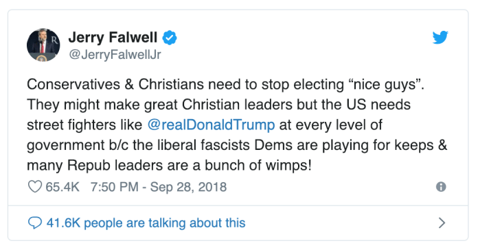 jerry falwell jr. christians in politics