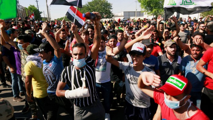 youth protesters in iraq