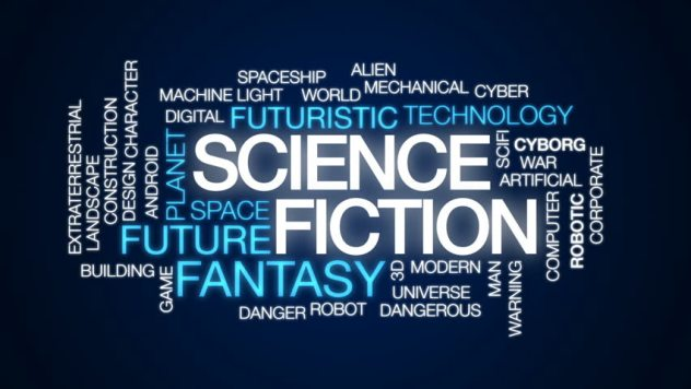 scifi word cloud