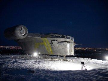 Star Wars Mandalorian ship in Siberia