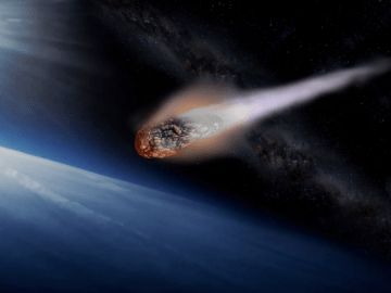 asteroid colliding with Earth