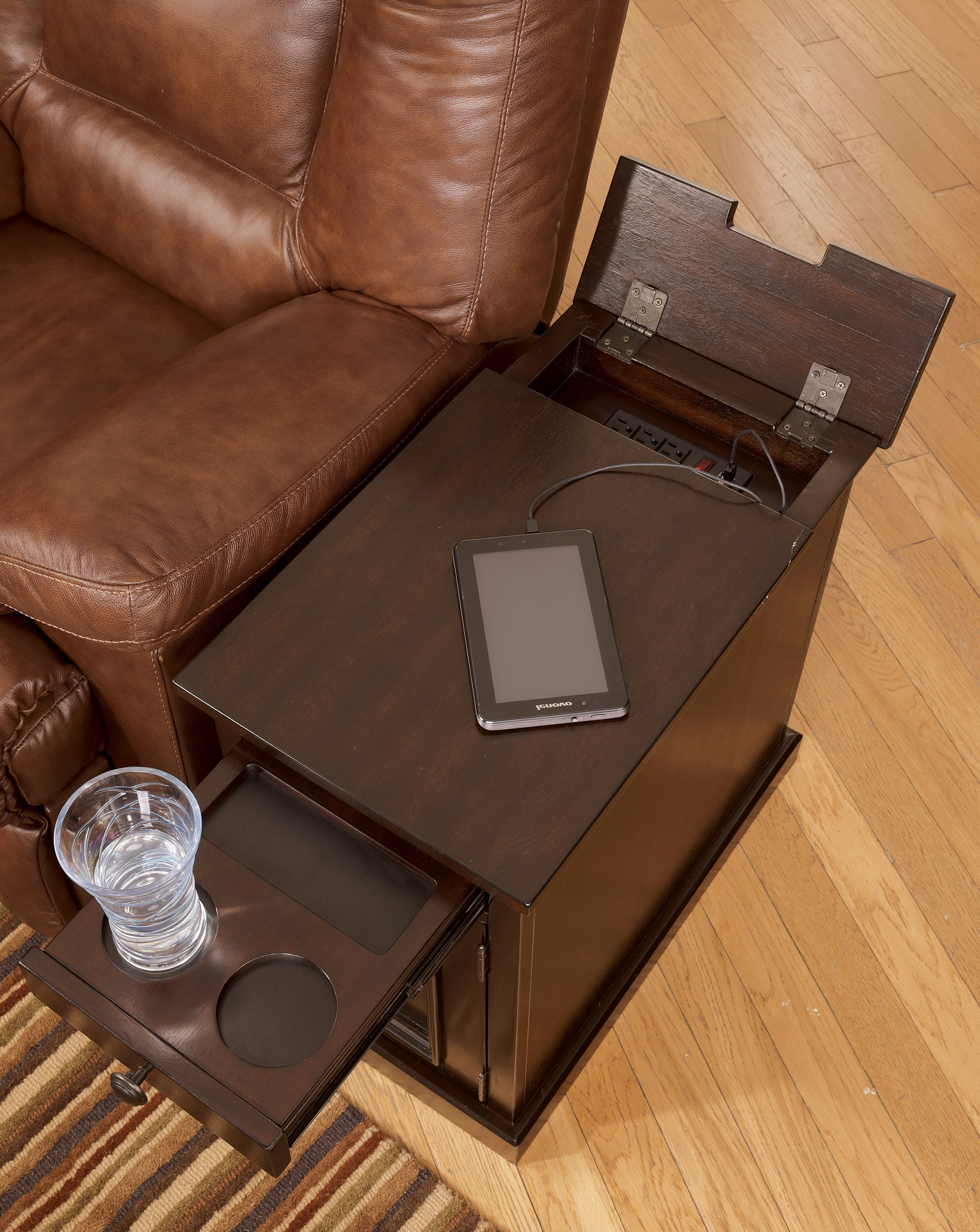 chair side end table with cup holder plycraft eames power home design ideas