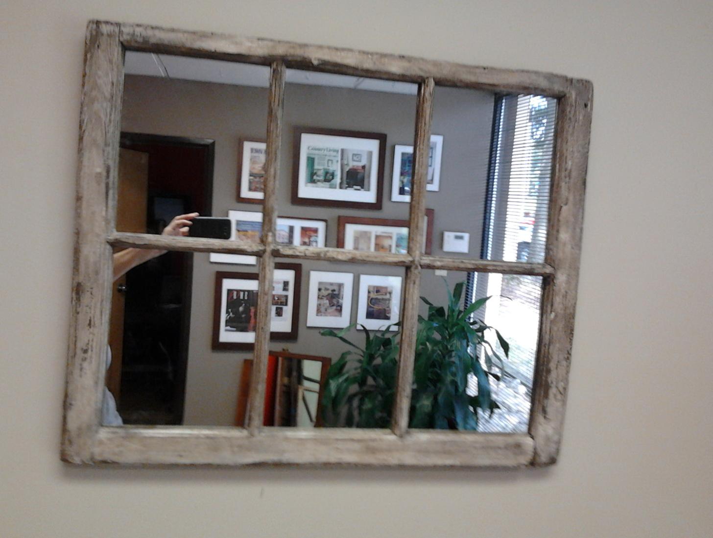 Distressed Window Pane Mirror Home Design Ideas