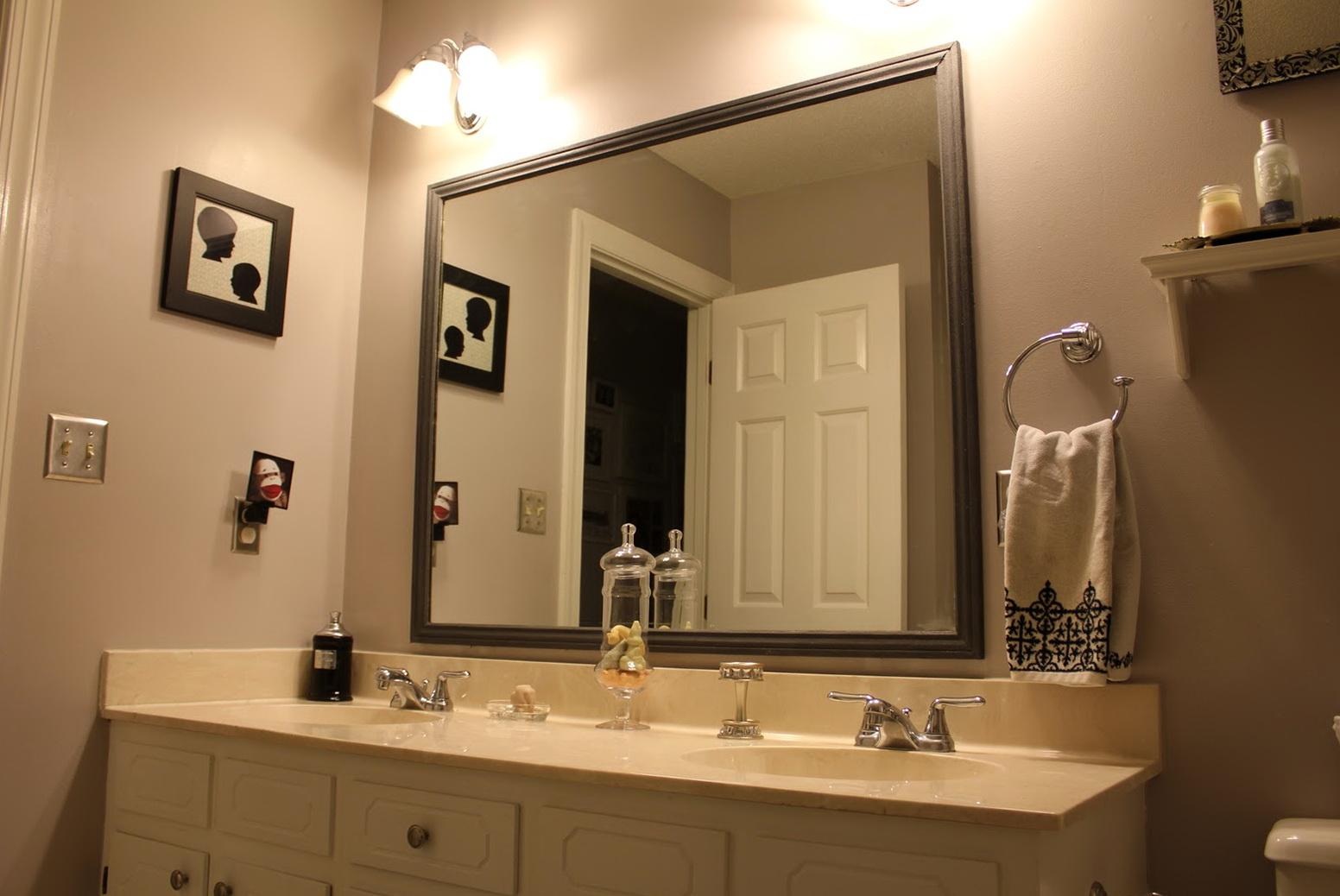 Bathroom Mirror Frames Lowes  Home Design Ideas
