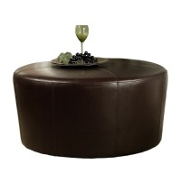Brown Leather Coffee Table Ottoman | Home Design Ideas
