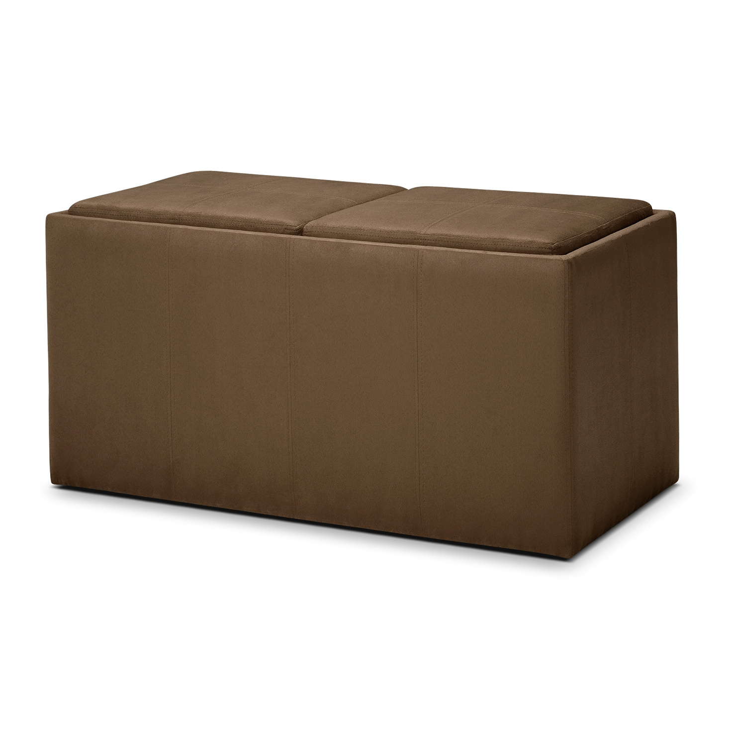 Fabric Storage Ottoman With Tray  Home Design Ideas