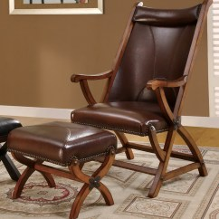 Accent Chair And Ottoman Black Outdoor Cushions Leather With Home Design Ideas